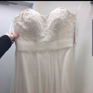 Strapless Champagne Wedding Dress